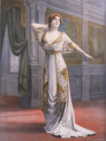 Mlle. Madeleine Dolley Modeling Ball Gown Made of Salome Silk Designed by Paquin Premium Photographic Print by Bert 