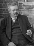 Author G. K. Chesterton, in Portrait Premium Photographic Print by E O Hoppe