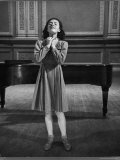 Italian Lyric Soprano Anna Maria Alberghetti Preparing for Her American Debut at Carnegie Hall Premium Photographic Print by Alfred Eisenstaedt