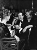 Socialite Lytle Hull with Composer Cole Porter as Host Elsa Maxwell Leans over His Shoulder Premium Photographic Print by Alfred Eisenstaedt