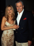 "Actress Jennifer Aniston and Father, Actor John Aniston, at Premiere of Her Film ""Picture Perfect"" Premium Photographic Print by Marion Curtis"