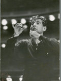 "Leonard Bernstein Conducting Rehearsal of NY Philharmonic in Hindemith's ""Mathis de Mahler"" Premium fotoprint van Alfred Eisenstaedt"