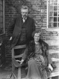 British Author G. K. Chesterton and His Wife Outdoors, in Portrait Premium Photographic Print by E O Hoppe