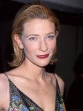 "Actress Cate Blanchett at Film Premiere of Her ""Elizabeth"" Premium Photographic Print by Dave Allocca"