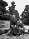 Merchant Keibun Tanaka and Wife on Their Suburban Tokyo Estate Premium Photographic Print by Alfred Eisenstaedt