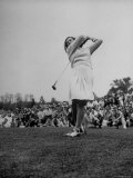 "Golfer Mildred ""Babe"" Didrickson Playing in the Washington Post Golf Tournament Premium Photographic Print by Martha Holmes"
