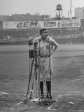 Babe Ruth at New York Yankees' 25th Anniversary Premium Photographic Print by Cornell Capa