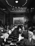 Henrici's, Chicago's Oldest Restaurant, Had Decorations and Superior Food, Filling with Politicians Photographic Print by Wallace Kirkland