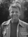 Portrait of Actor Van Johnson at Home Outdoors Premium Photographic Print by Bob Landry