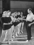 Choreographer Antony Tudor Demonstrating Hand Gestures to Dancers at Ballet Theatre, Photographic Print