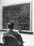 Richard Schafer, an Expert in the Field of Non Associative Algebras, Studying Complicated Formulas Premium Photographic Print by Alfred Eisenstaedt