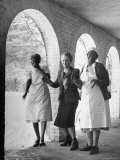 Lady Nancy Astor, and Two of Her Employees, Enjoying a Laugh Together Premium Photographic Print by Marie Hansen