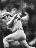 Johnny Bench, During Baseball Game, in Cincinnati Premium Photographic Print by John Dominis