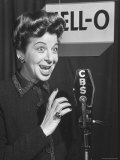 Performer Fanny Brice Singing Radio Commercial for Jell-O Premium Photographic Print by Martha Holmes