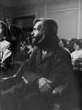 Charles Manson in Court Facing Murder Charges in Brutal Deaths of Actress Sharon Tate and Others Premium Photographic Print by Vernon Merritt III