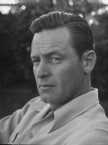 Actor William Holden Looking Serious Metal Print by Allan Grant