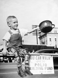 David Henseley, a Child Crippled by Polio, in Public Fund Raising Drive for a New Polio Hospital Premium Photographic Print by Martha Holmes