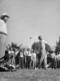 Golfer Ben Hogan Playing in Pro Amateur Tournament as Warm-up for Phoenix Open Premium Photographic Print by Martha Holmes