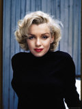 Actress Marilyn Monroe Posing at Home in Her Backyard Metal Print by Alfred Eisenstaedt