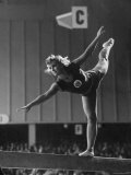 Russian Gymnast Competing at 1952 Olympics Premium Photographic Print by Ralph Crane