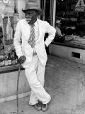 Old African American Man Wearing a Disheveled Outfit in Small Southern Town Photographic Print by Alfred Eisenstaedt