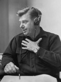 Radio Performer Arthur Godfrey Taking to the Air Premium Photographic Print by Martha Holmes