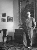 French Director Jean Renoir, Son of Impressionist Painter Pierre Auguste Premium Photographic Print by Ed Clark