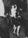 Liza Minnelli Dancing at the Il Milo DiscotecHeadquartersue on the Occasion of Her 19th Birthday Premium Photographic Print by Bill Eppridge