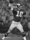 Quarterback for Vikings Francis Tarkenton No.10 Premium Photographic Print by Bill Eppridge