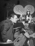 "Orson Welles Directs ""Around the World"" Premium Photographic Print by Al Fenn"