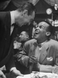 Singer Harry Belafonte, Looking Up and Laughing During Bop City Nightclub's Opening Night Premium Photographic Print by Martha Holmes