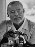 Hemingway at Fishing Tournament Premium Photographic Print by Alfred Eisenstaedt
