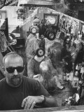 """Californian Sculptor Edward Kienholz and His """"Beanery"""" Premium Photographic Print by Ralph Crane"""