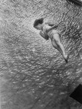Gold Medalist US Diver Pat McCormick Diving from Springboard at 1952 Olympic Games Premium Photographic Print by Ralph Crane