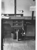 Good Still Life of Old Fashioned Desk Still in Use in Law Offices, Banks, and Commercial Firms Premium Photographic Print by Walker Evans