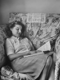 Soprano Irmgard Seefried Reviewing Her Music, Photographic Print