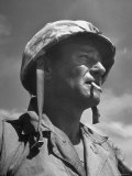 "Actor John Wayne as Marine Sgt. Platoon Leader in Scene From the Movie ""Sands of Iwo Jima"" Premium Photographic Print by Ed Clark"