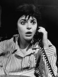"""Actress Anne Bancroft on Telephone in Scene From Broadway Play """"Two for the Seesaw"""" Premium Photographic Print by Alfred Eisenstaedt"""
