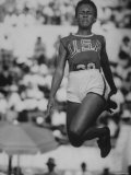 USA Ms. White, Faulting During Broad Jump Event in Olympics Premium Photographic Print by Mark Kauffman