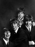 Ringo Starr, George Harrison, Paul McCartney and John Lennon Premium Photographic Print by John Dominis