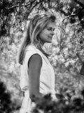 "Actress Candice Bergen Standing in the Garden as She is Appearing in Movie ""The Magus"" Premium Photographic Print by Pierre Boulat"