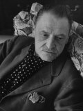 Author Somerset Maugham Relaxing on Couch, at Home Premium Photographic Print by Serge Balkin