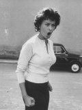 Actress Sophia Loren Displaying a Wide Range of Emotions Premium Photographic Print by Loomis Dean