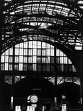 Features of NYC Penn Station Include Ceiling of atrium, steel glass Vaulting and Decorated Clock. Premium Photographic Print by Walker Evans