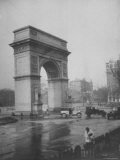 Washington Square Arch Designed by Stanford White, Washington Square Park, Greenwich Village, NYC Premium Photographic Print by Emil Otto Hoppé