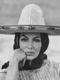"Mexican Actress Maria Felix on Set New Picture ""Juana Gallo"" Premium Photographic Print by Allan Grant"