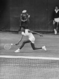 Tennis Player Althea Gibson in Action on Court During Match Premium Photographic Print by Thomas D. Mcavoy
