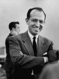 Inventor of the Polio Vaccine Dr. Jonas E. Salk Posing for a Picture Premium Photographic Print by Al Fenn