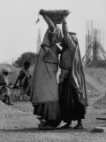Indian Woman During Construction of Chandigarh, New Capital City of Punjab Premium Photographic Print by James Burke