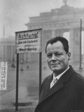 Mayor Willy Brandt of West Berlin Premium Photographic Print by Robert Lackenbach